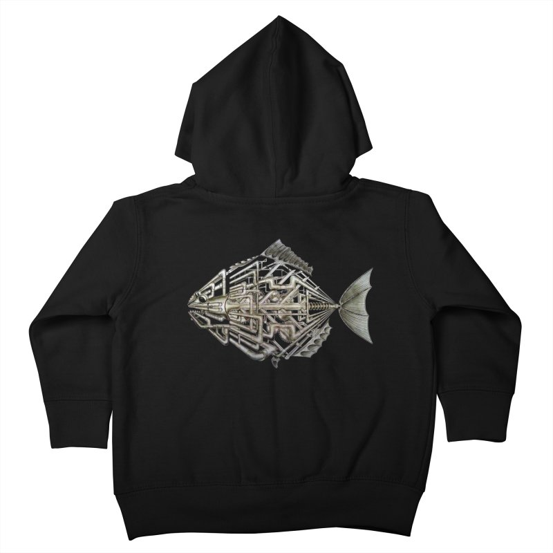 bio fish Kids Toddler Zip-Up Hoody by bidule's Artist Shop