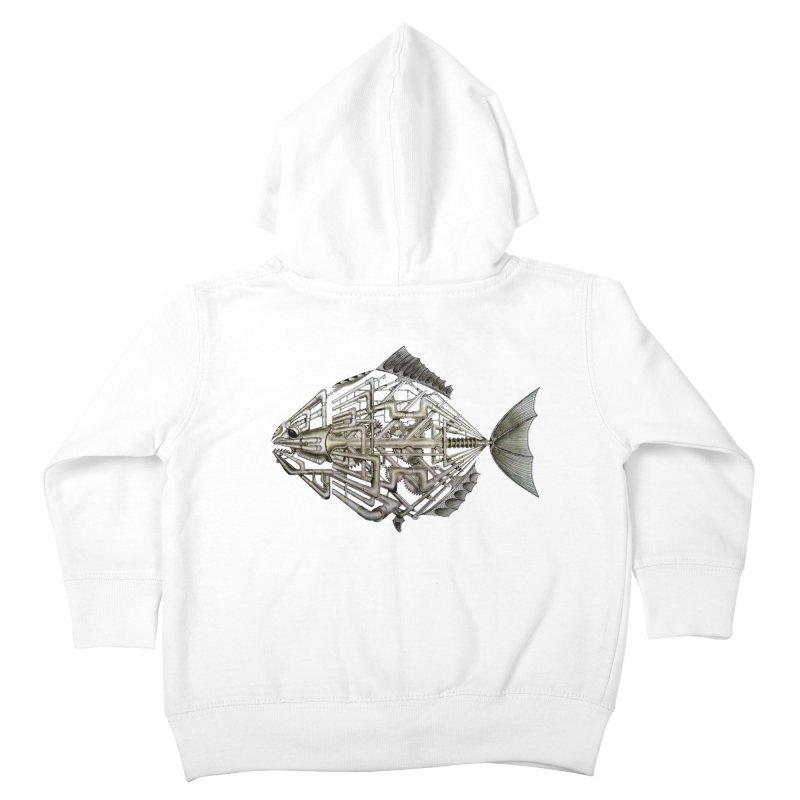 bio fish Kids Toddler Zip-Up Hoody by bidule's Artist Shop