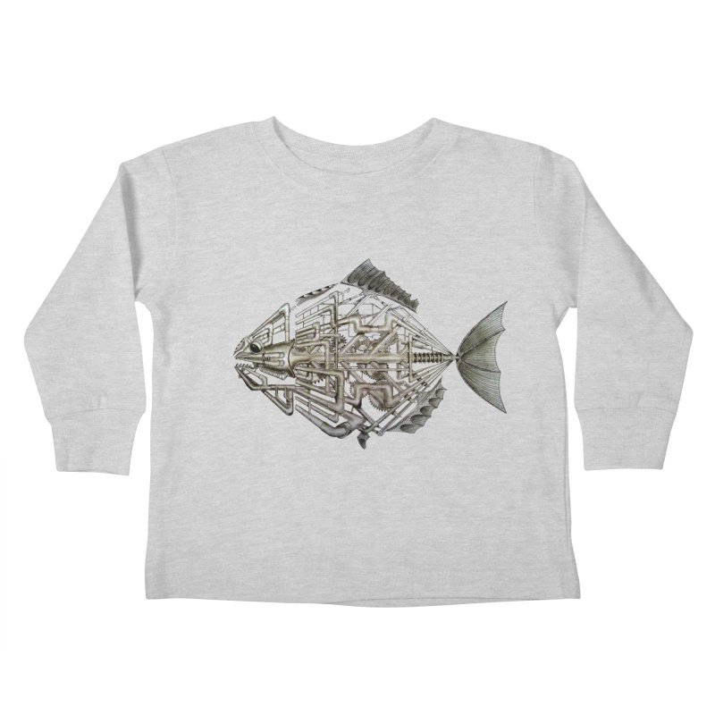 bio fish Kids Toddler Longsleeve T-Shirt by bidule's Artist Shop