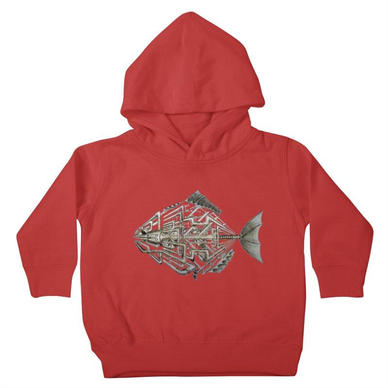 bio fish Kids Toddler Pullover Hoody by bidule's Artist Shop