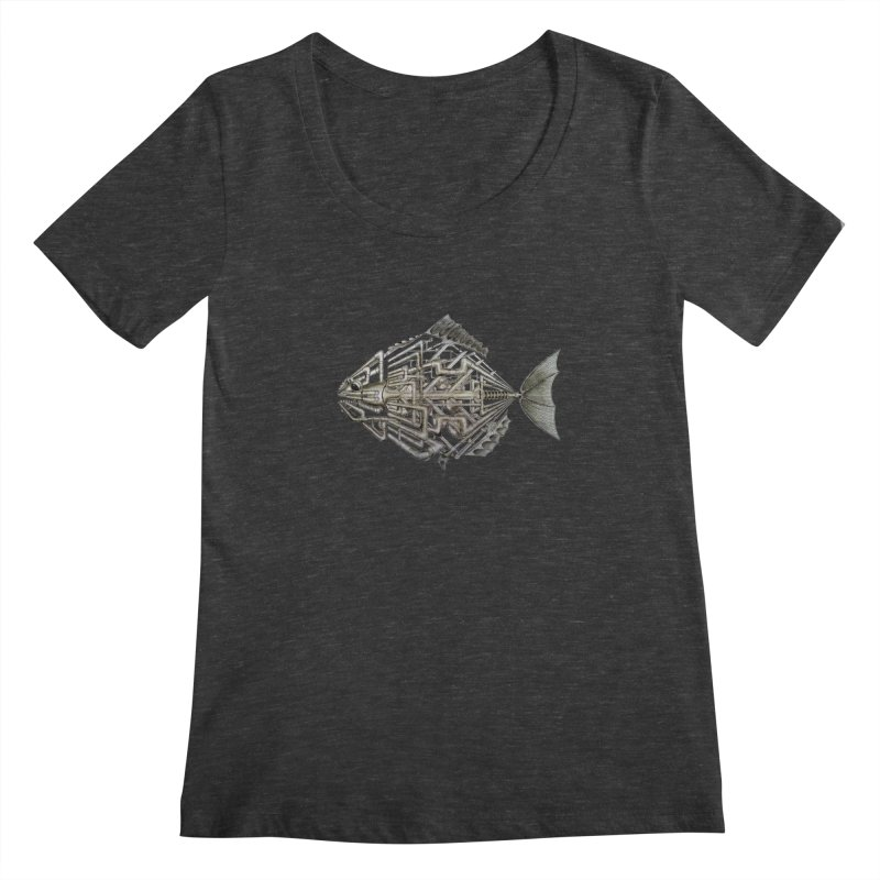 bio fish Women's Scoopneck by bidule's Artist Shop