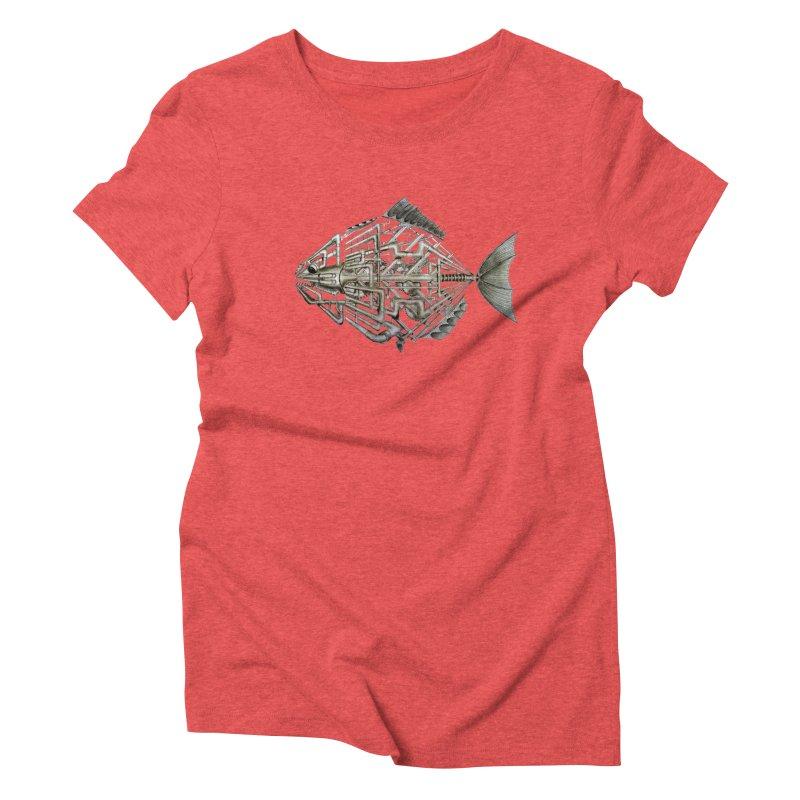 bio fish Women's Triblend T-Shirt by bidule's Artist Shop
