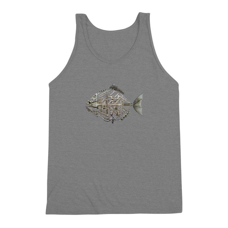 bio fish Men's Triblend Tank by bidule's Artist Shop
