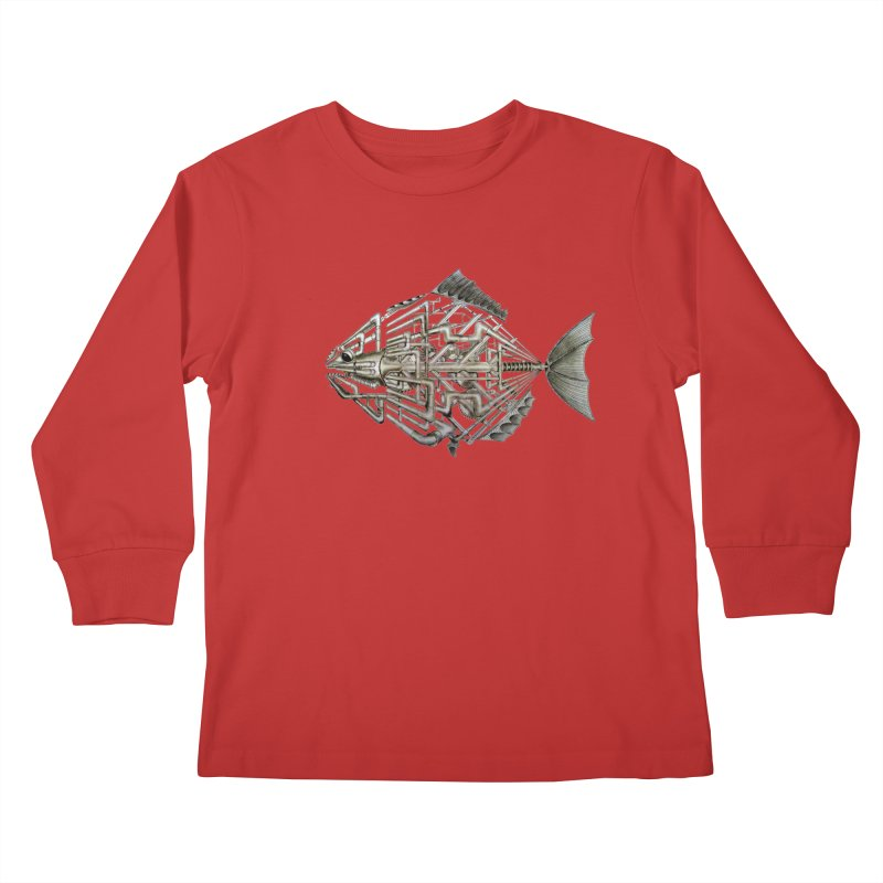 bio fish Kids Longsleeve T-Shirt by bidule's Artist Shop