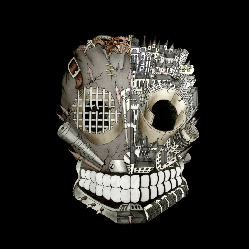 Bio skull None  by bidule's Artist Shop