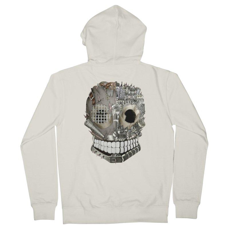 Bio skull Men's Zip-Up Hoody by bidule's Artist Shop