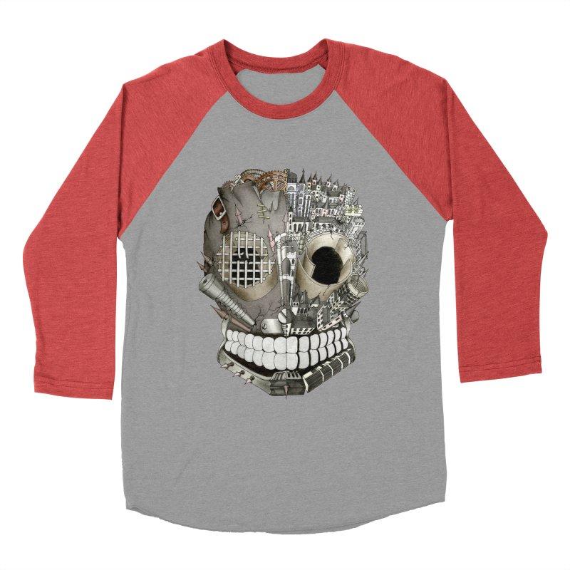 Bio skull Women's Baseball Triblend T-Shirt by bidule's Artist Shop