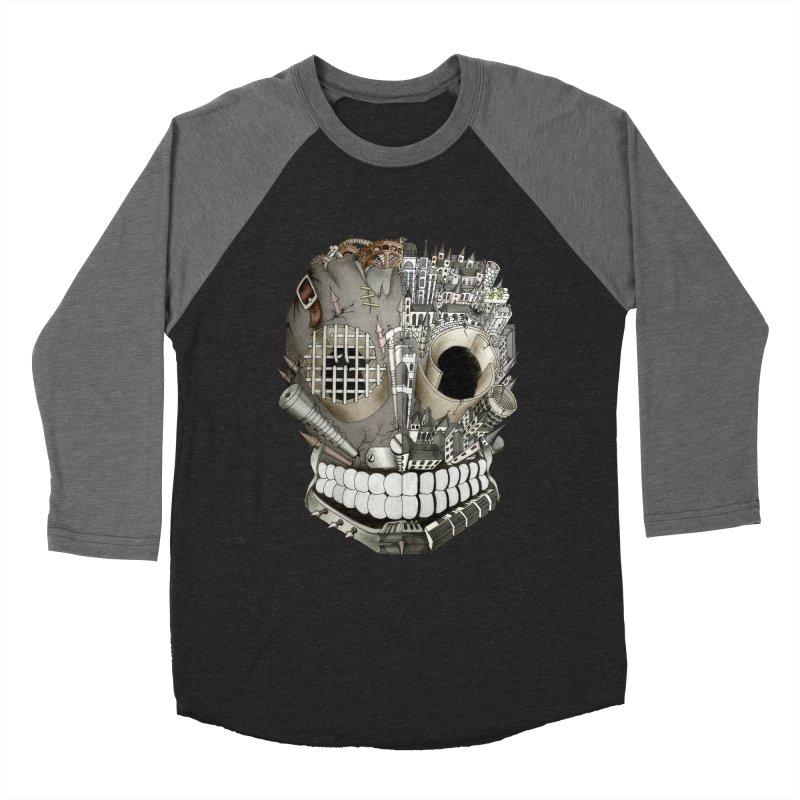 Bio skull Women's Baseball Triblend T-Shirt by bidule's Artist Shop