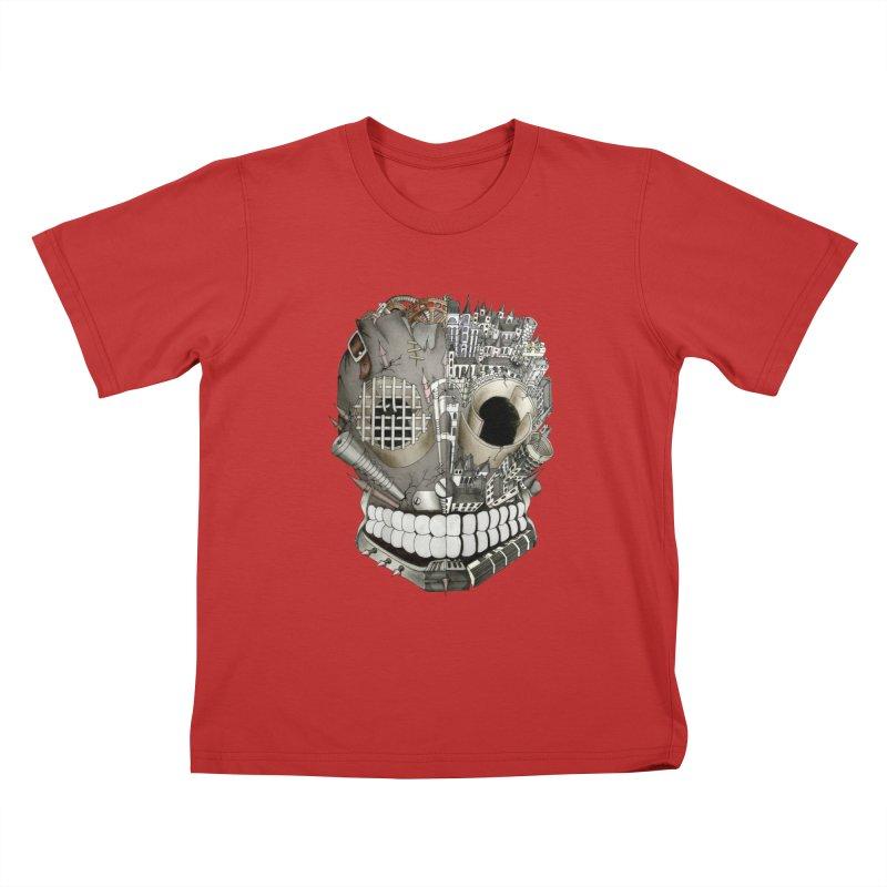 Bio skull Kids T-Shirt by bidule's Artist Shop