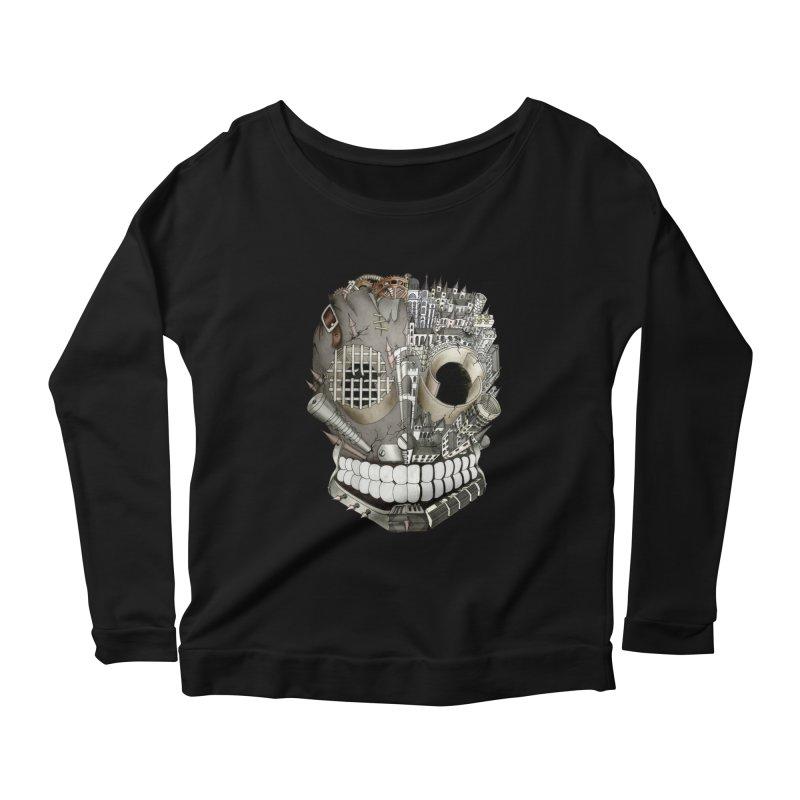 Bio skull Women's Longsleeve Scoopneck  by bidule's Artist Shop