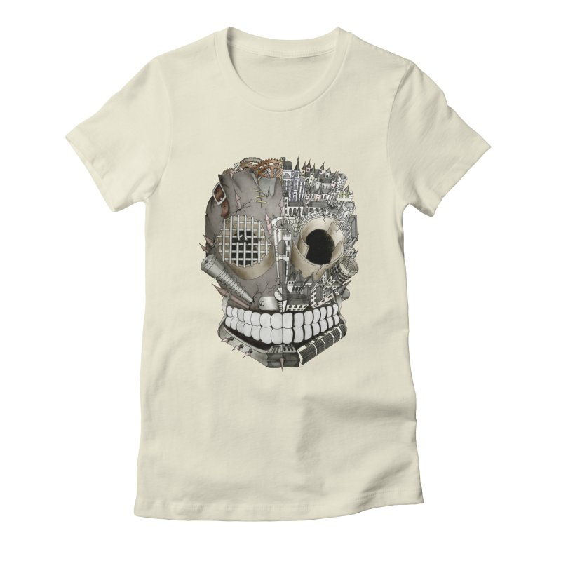 Bio skull Women's Fitted T-Shirt by bidule's Artist Shop