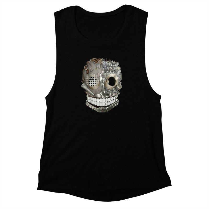 Bio skull Women's Muscle Tank by bidule's Artist Shop