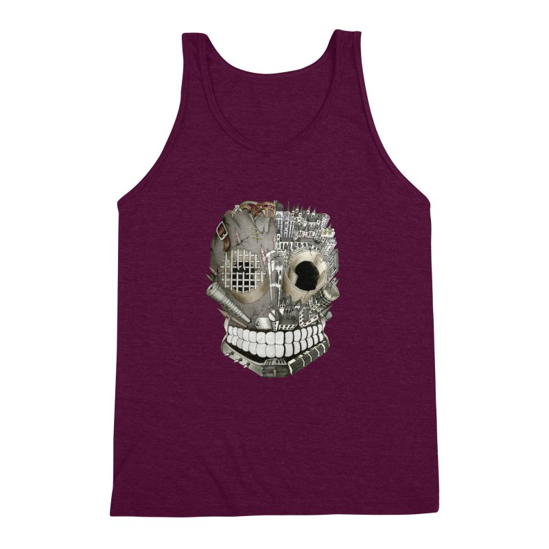 Bio skull Men's Triblend Tank by bidule's Artist Shop
