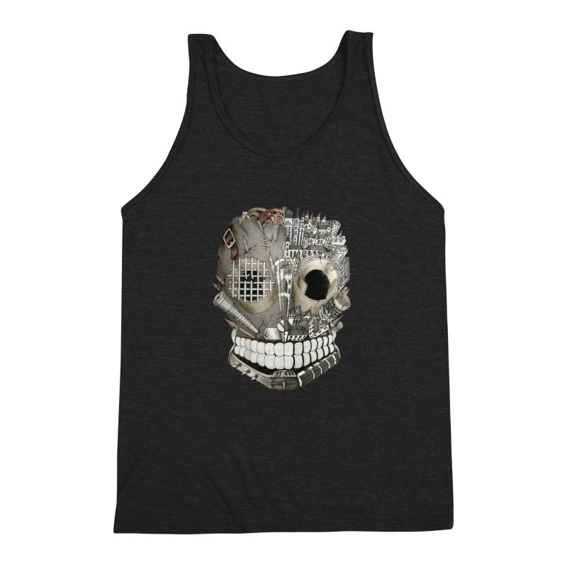 Bio skull Men's Triblend Tank by bidule's Artist Shop