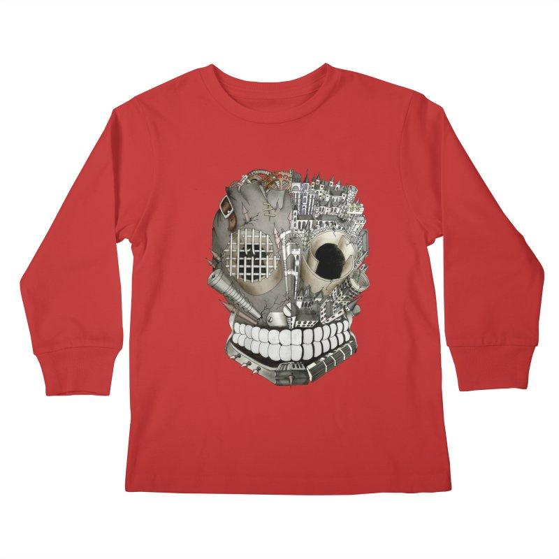 Bio skull Kids Longsleeve T-Shirt by bidule's Artist Shop