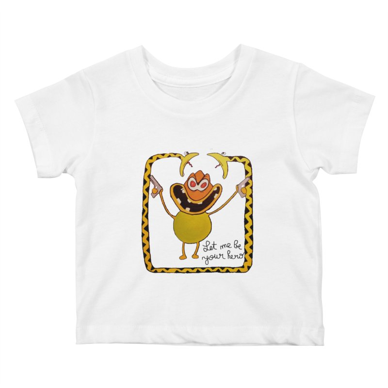 let me be your hero Kids Baby T-Shirt by bidule's Artist Shop