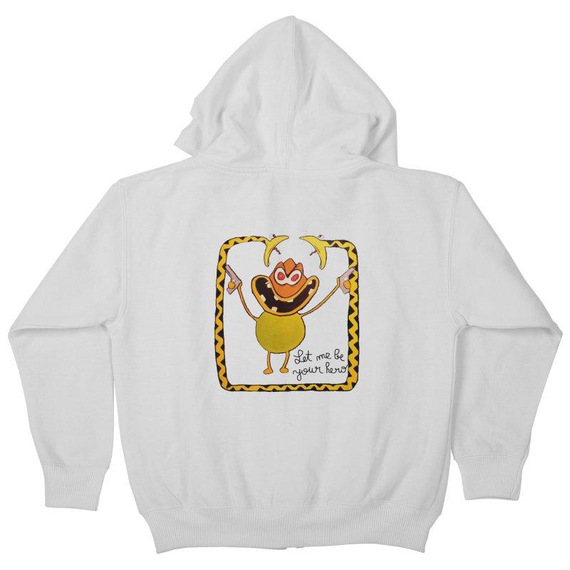 let me be your hero Kids Zip-Up Hoody by bidule's Artist Shop