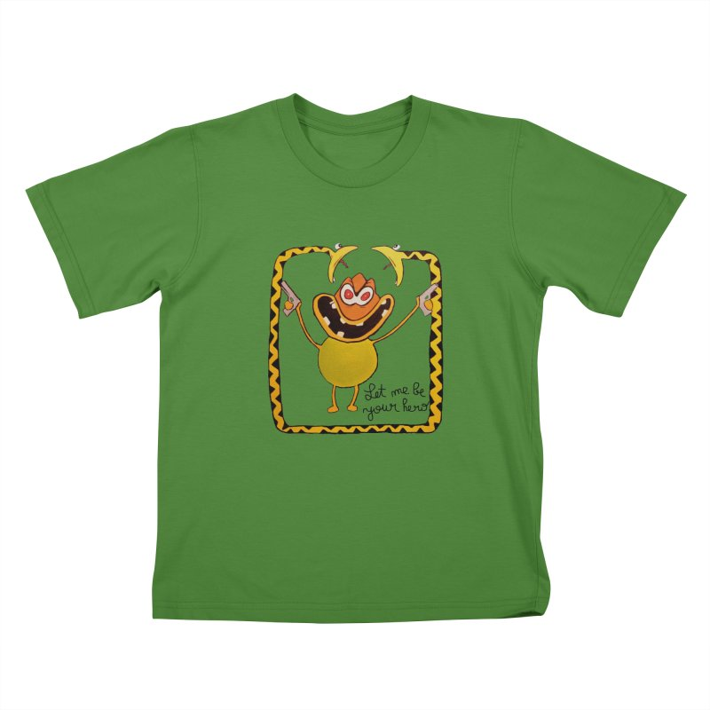 let me be your hero Kids T-Shirt by bidule's Artist Shop