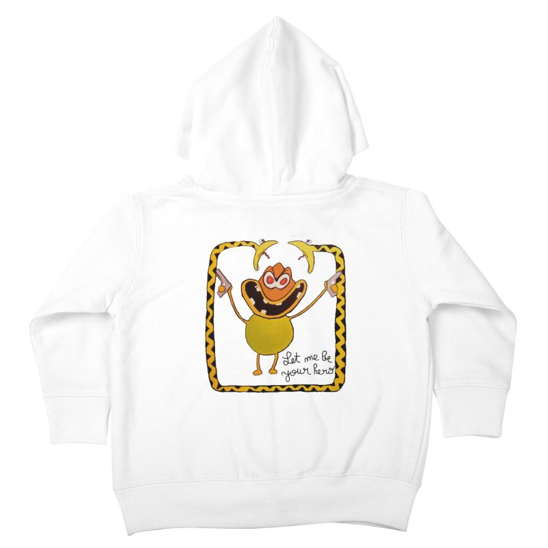 let me be your hero Kids Toddler Zip-Up Hoody by bidule's Artist Shop