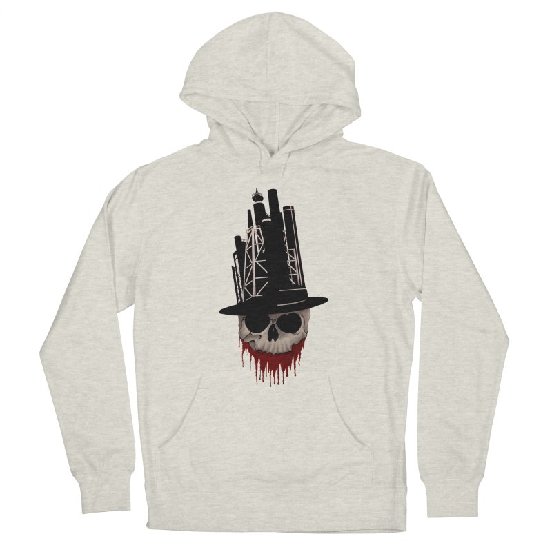 Skull and town Women's Pullover Hoody by bidule's Artist Shop