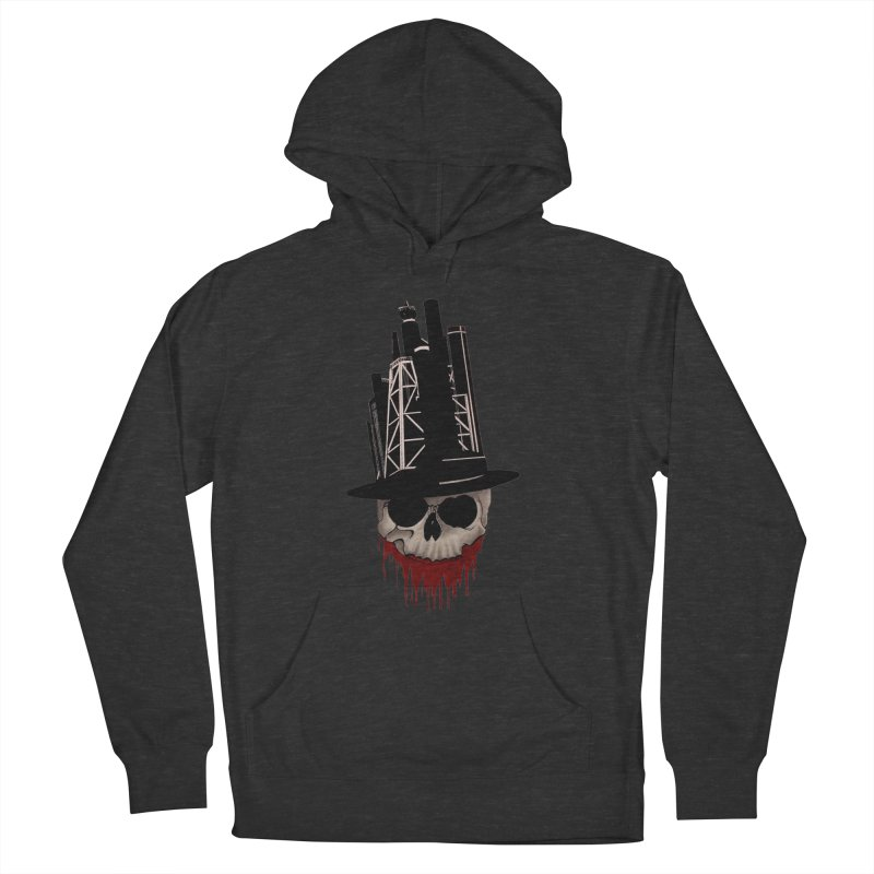 Skull and town Men's Pullover Hoody by bidule's Artist Shop