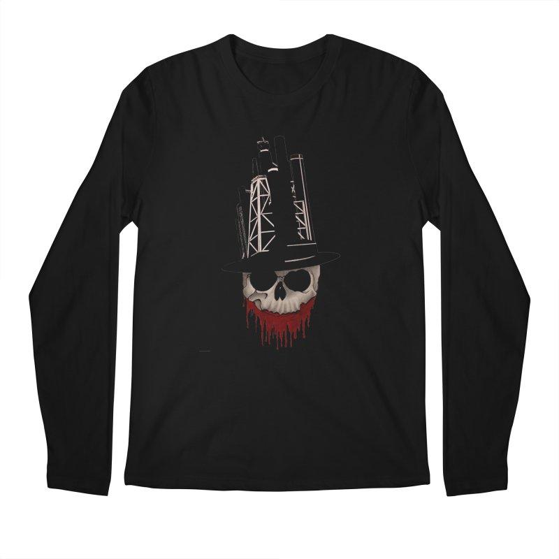 Skull and town Men's Longsleeve T-Shirt by bidule's Artist Shop