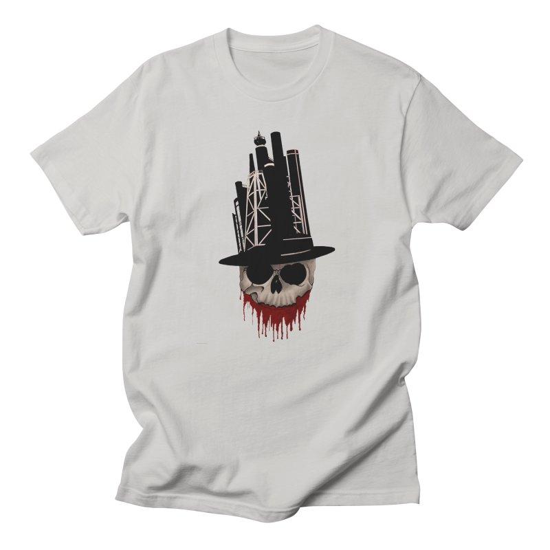Skull and town Men's T-shirt by bidule's Artist Shop