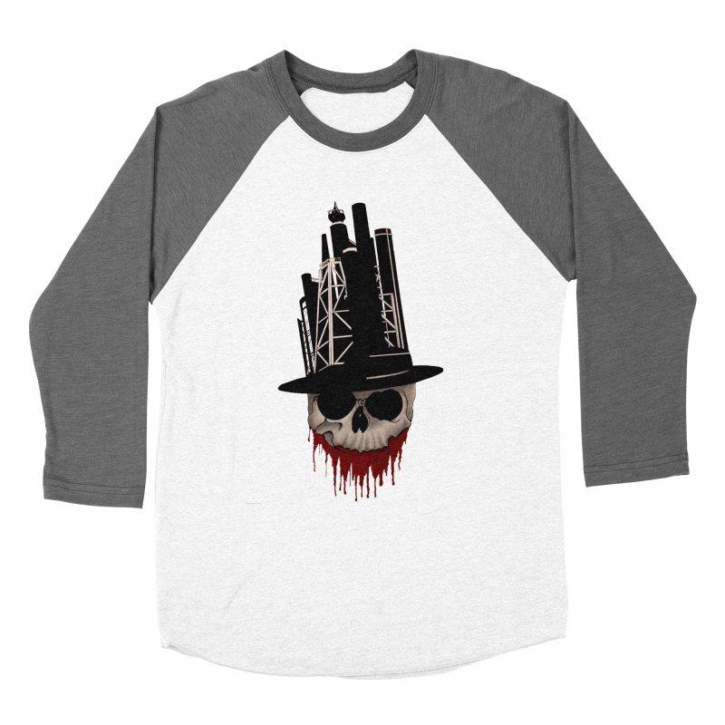 Skull and town Women's Baseball Triblend T-Shirt by bidule's Artist Shop