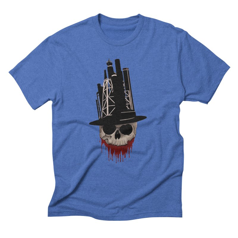 Skull and town Men's Triblend T-shirt by bidule's Artist Shop