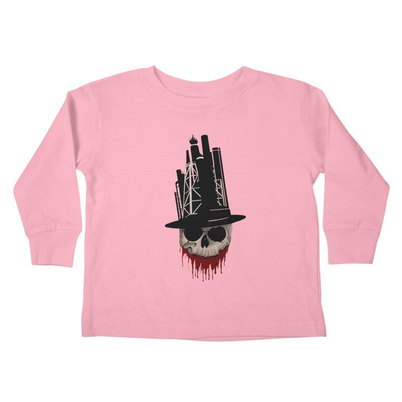 Skull and town Kids Toddler Longsleeve T-Shirt by bidule's Artist Shop