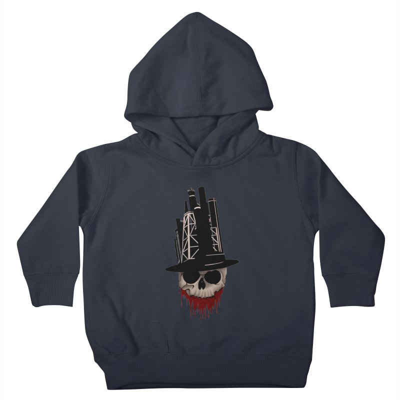 Skull and town Kids Toddler Pullover Hoody by bidule's Artist Shop