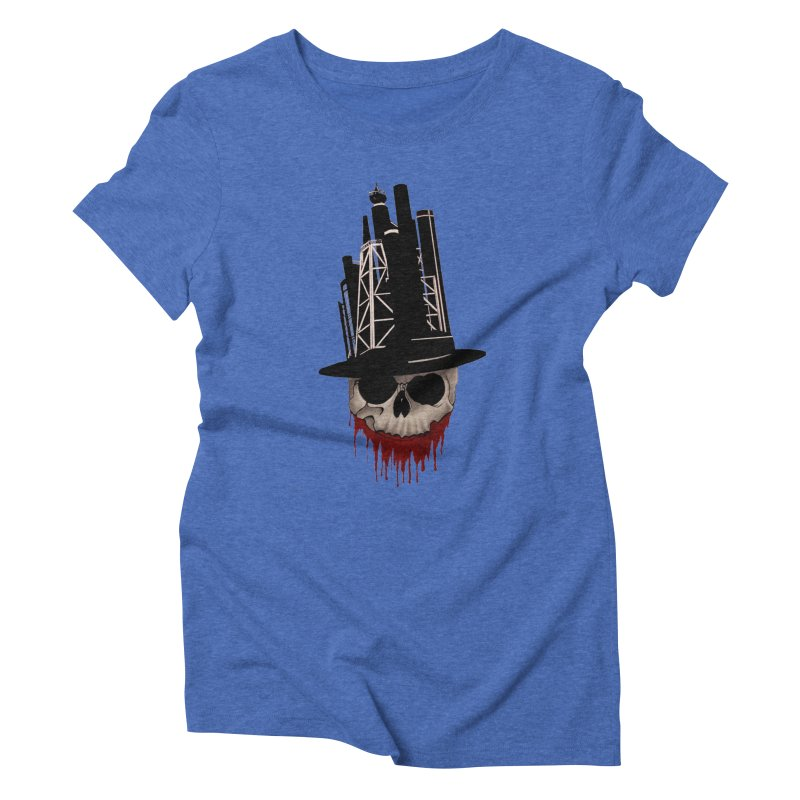 Skull and town Women's Triblend T-Shirt by bidule's Artist Shop