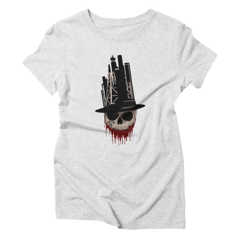 Skull and town Women's Triblend T-Shirt by bidule's Artist Shop