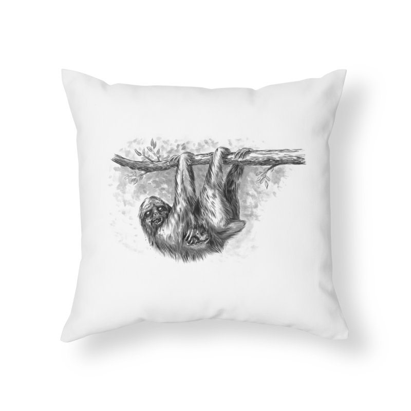 Slombie Home Throw Pillow by biernatt's Artist Shop