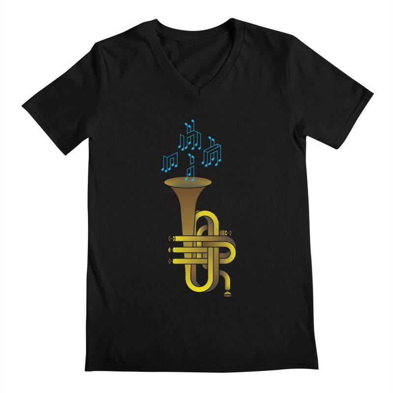 All that impossible jazz Men's V-Neck by biernatt's Artist Shop