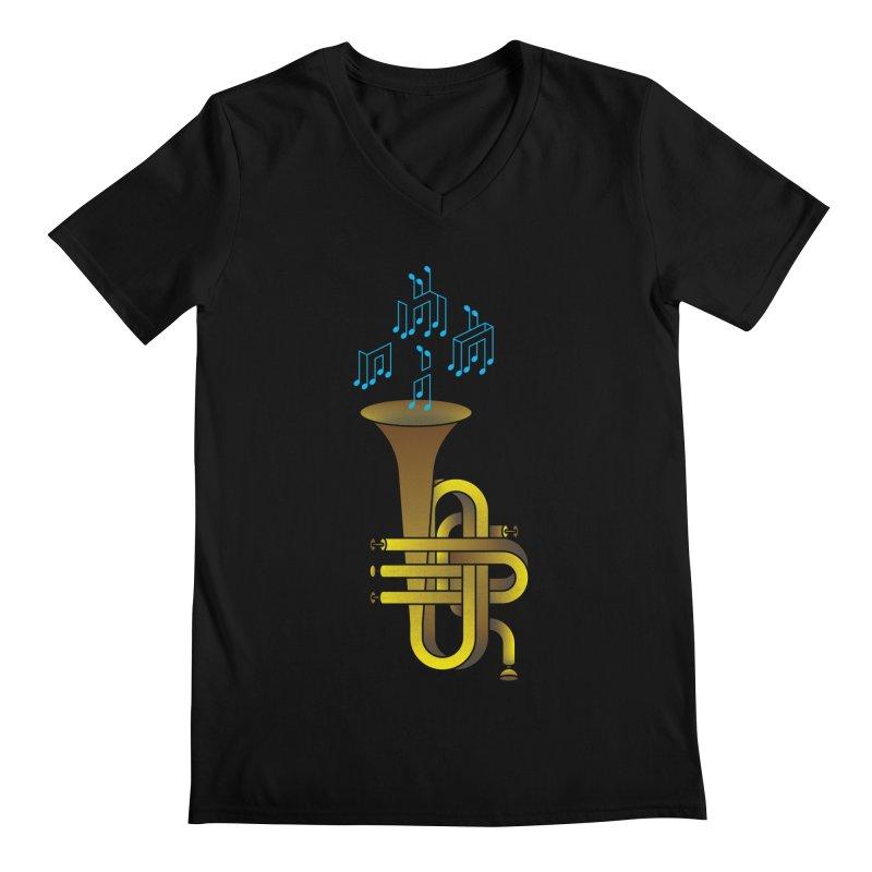 All that impossible jazz Men's V-Neck by biernatt's Artist Shop