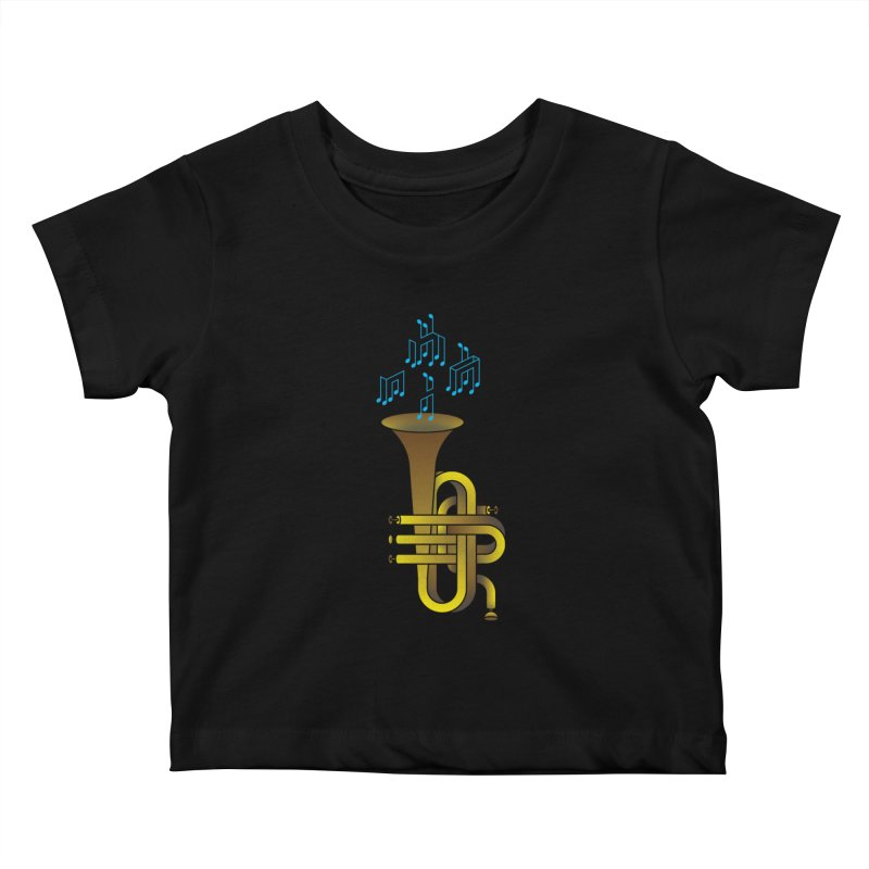 All that impossible jazz Kids Baby T-Shirt by biernatt's Artist Shop