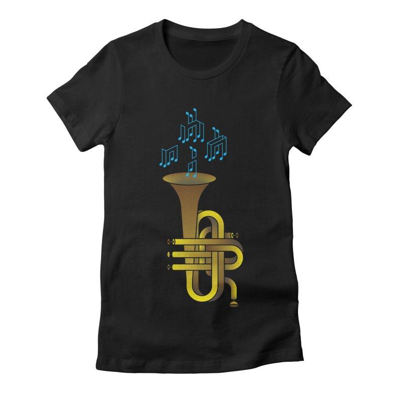 All that impossible jazz Women's Fitted T-Shirt by biernatt's Artist Shop