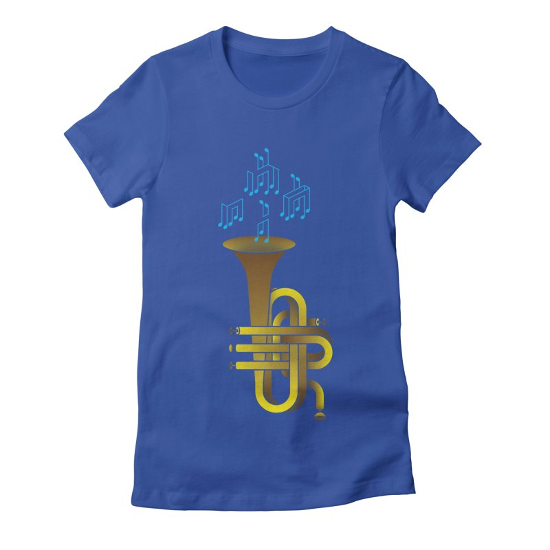 All that impossible jazz Women's Fitted T-Shirt by biernatt's Artist Shop