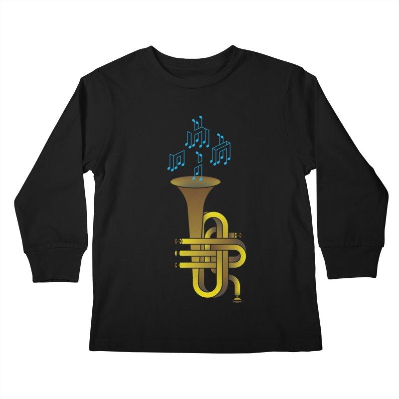 All that impossible jazz Kids Longsleeve T-Shirt by biernatt's Artist Shop