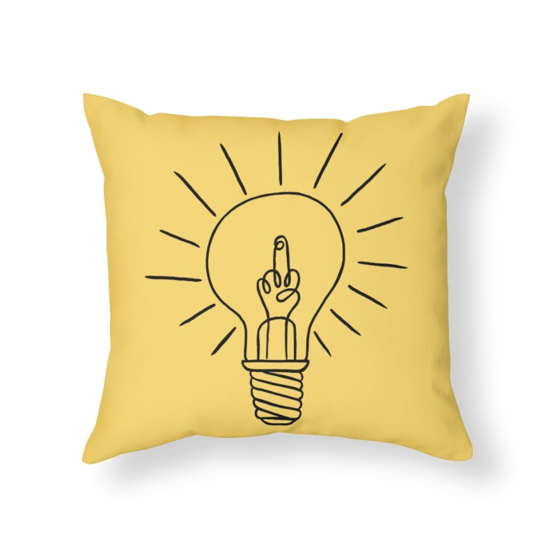 The idea Home Throw Pillow by biernatt's Artist Shop