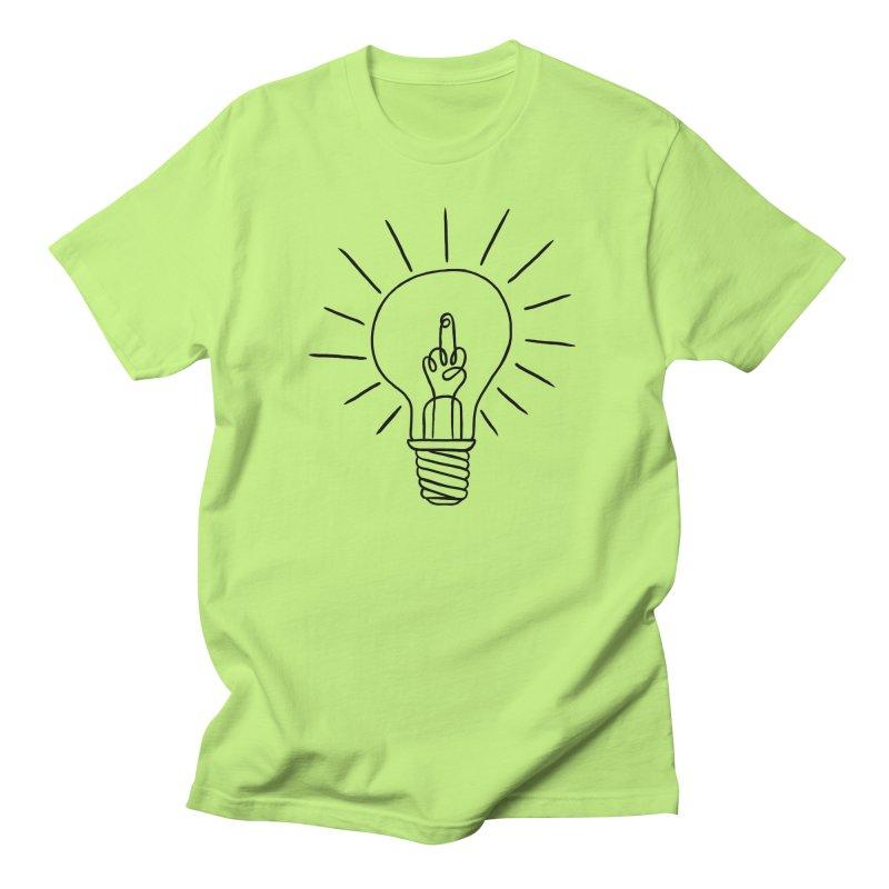 The idea in Men's Regular T-Shirt Neon Green by biernatt's Artist Shop