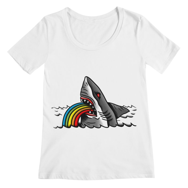Great white balance Women's Scoopneck by biernatt's Artist Shop