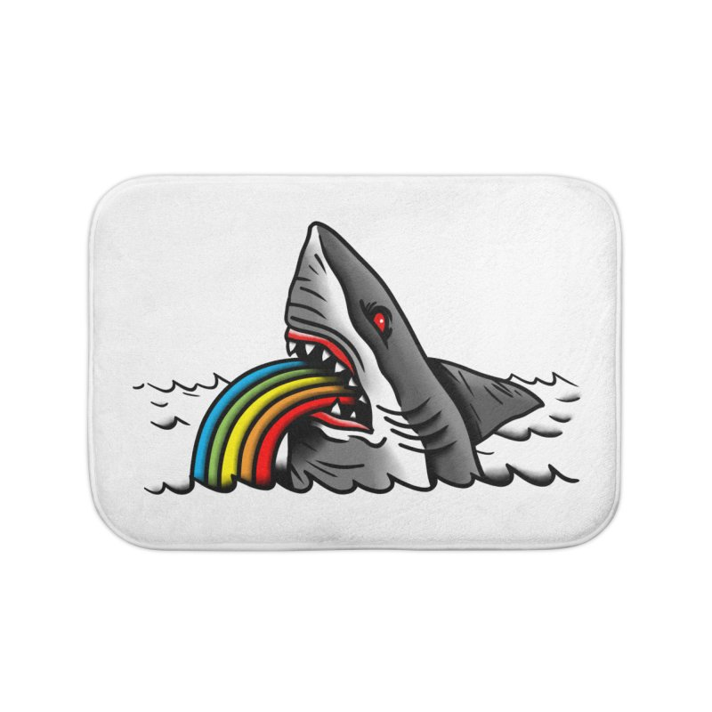 Great white balance Home Bath Mat by biernatt's Artist Shop