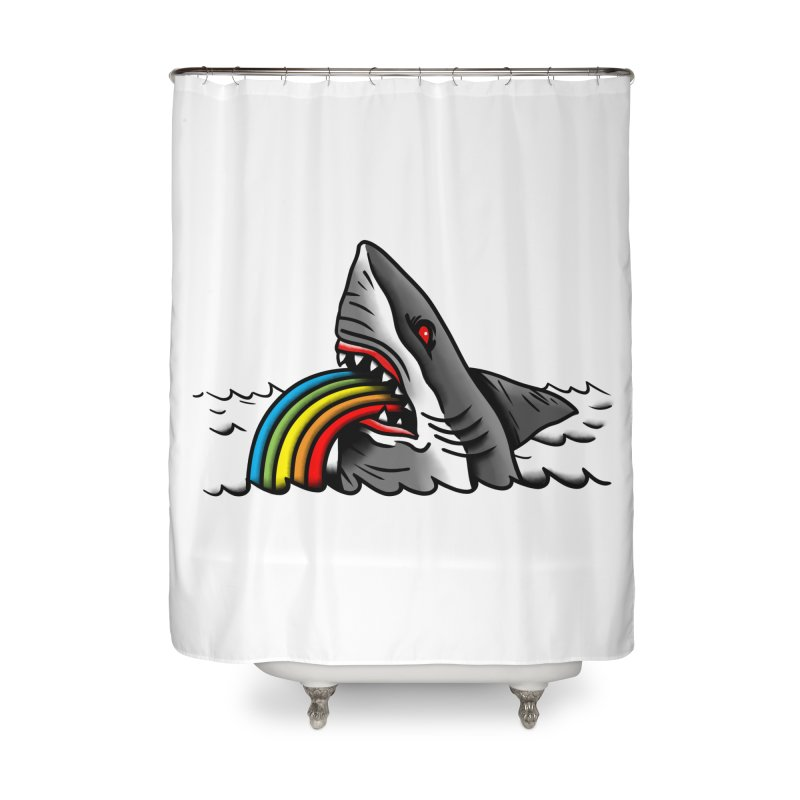 Great white balance Home Shower Curtain by biernatt's Artist Shop