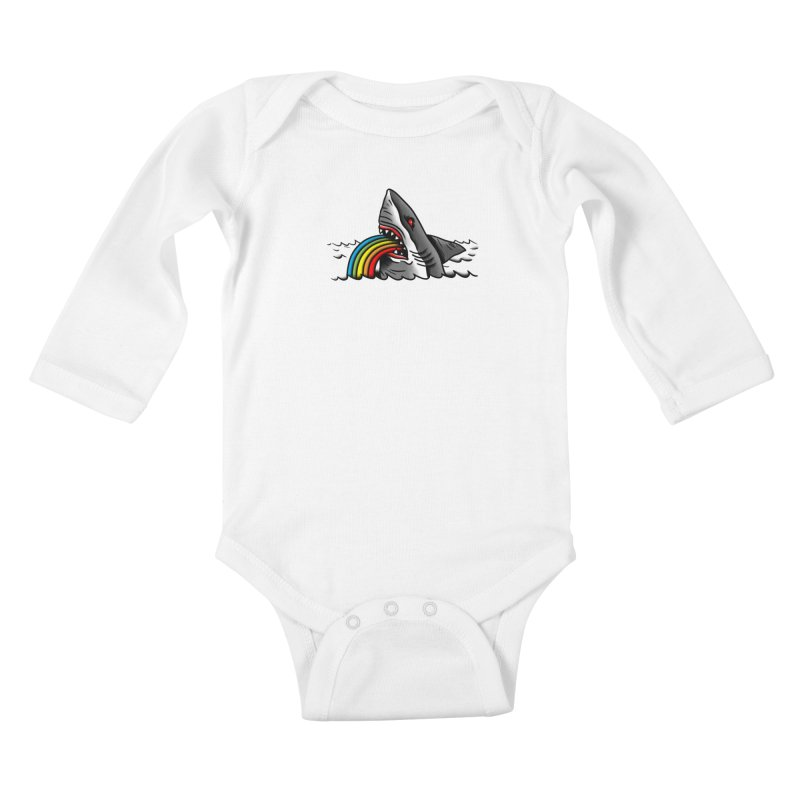 Great white balance Kids Baby Longsleeve Bodysuit by biernatt's Artist Shop
