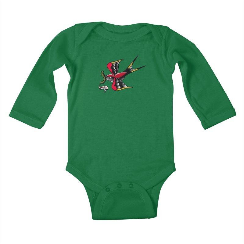 Swallow! Don't! Kids Baby Longsleeve Bodysuit by biernatt's Artist Shop