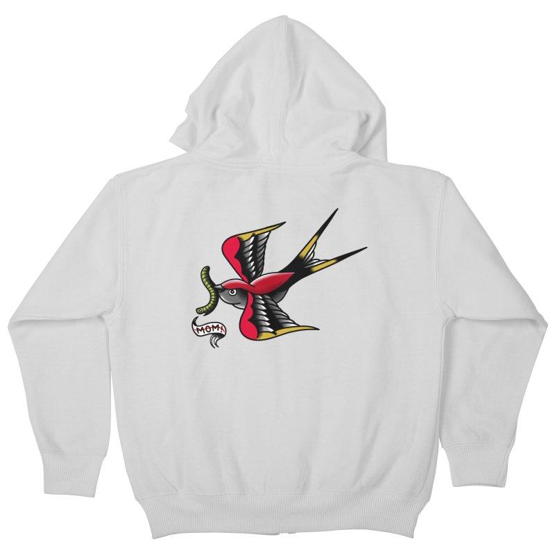 Swallow! Don't! Kids Zip-Up Hoody by biernatt's Artist Shop