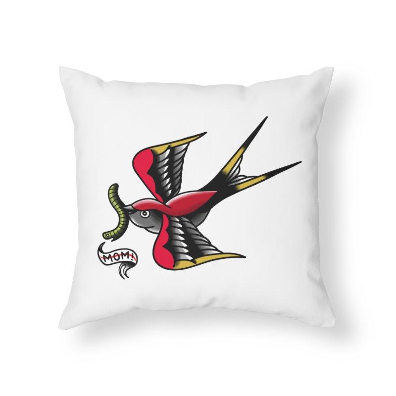 Swallow! Don't! Home Throw Pillow by biernatt's Artist Shop