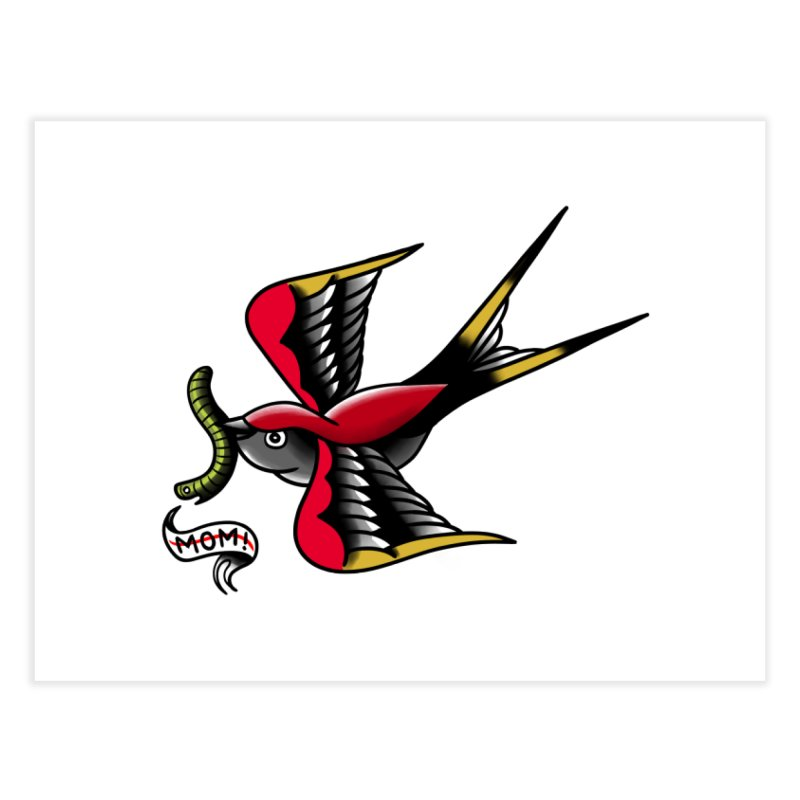 Swallow! Don't! Home Fine Art Print by biernatt's Artist Shop